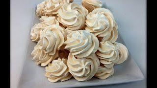 Meringue Cookies Recipe (Swiss Meringues) Receita de Suspiros (Suspiros Suiços)   TardesNaCozinha - YouTube
