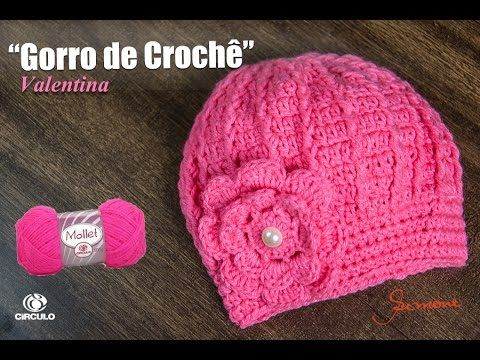 Gorro Feminino de Crochê   Passo a passo   Professora Simone - YouTube