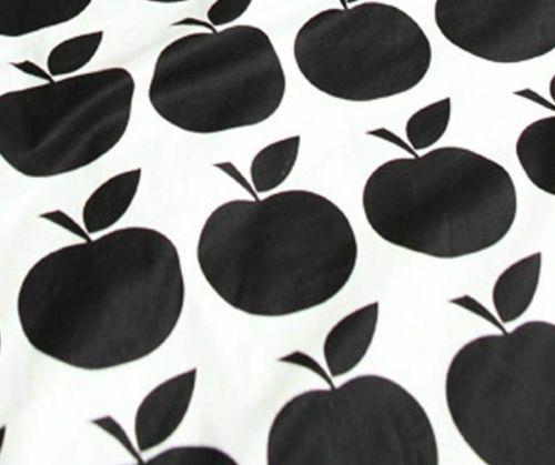 Noir-pommes-100-coton-remnant-tissu-110-x-22-5cm-quilting-tissu-off-cut-l