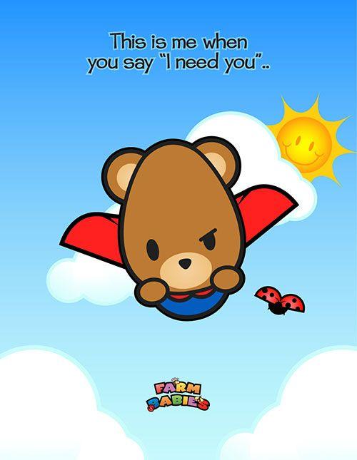 #kawaii #cute #love #quotes #illustration #baby #farm #animals #cartoon #bear #workout