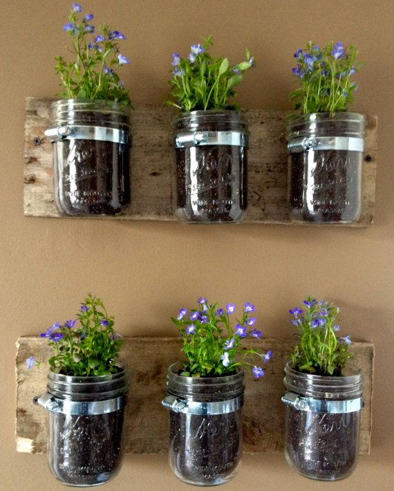 Hey, I found this really awesome Etsy listing at https://www.etsy.com/listing/96930098/mason-jar-wall-hanger-planter