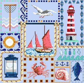 DMC Free Cross Stitch Patterns - Seaside