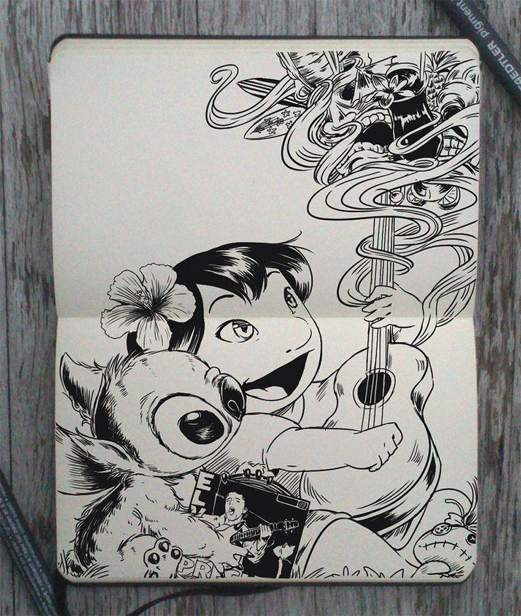 #150 Lilo and Stitch by 365-DaysOfDoodles.deviantart.com on @deviantART