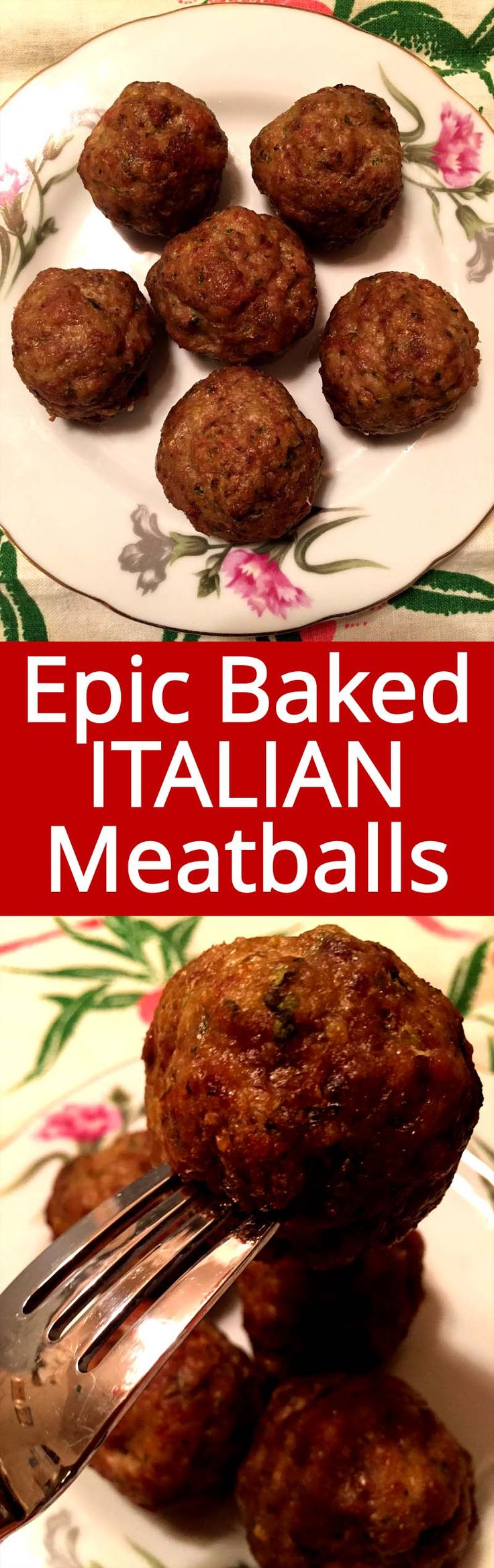 These baked Italian meatballs are so easy to make, tender and juicy! This is my favorite baked meatballs recipe, I want to make them over and over and over again!