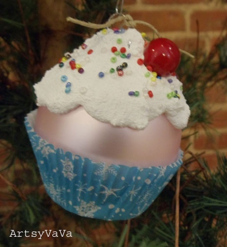 christmas cupcake liner craft ornament cupcake ornaments could use cricut to make wrapper 6046