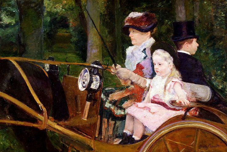 "Cassatt Mary - Stevenson American 1844 1926 Woman And Girl Driving 1881 Phil  (from <a href=""http://www.oldpainters.org/picture.php?/51012/category/16491""></a>)"