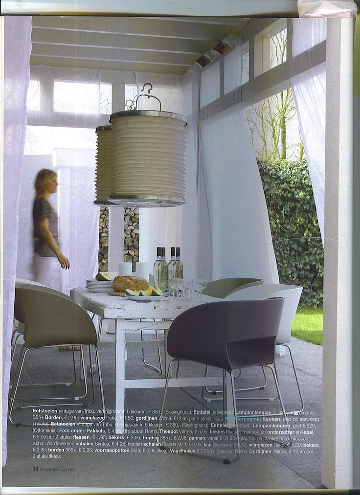 Veranda met voile gordijnen terras pinterest for Voile gordijnen