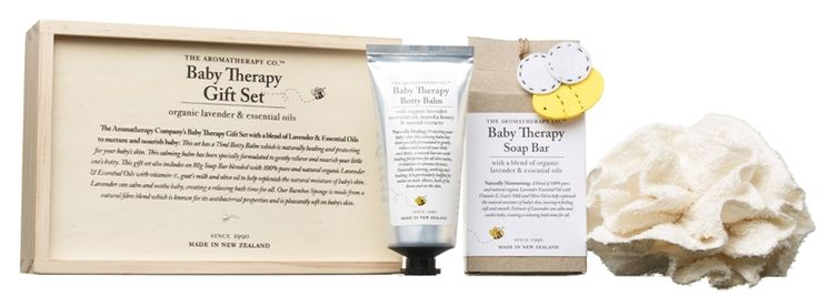 Includes a 75ml Botty Balm, naturally healing & protecting for baby's skin and specifically formulated to gently relieve & nourish little one's botty.  The set also includes an 80g Soap Bar blended with 100% pure & natural organic Lavender & Essential Oils with vitamin-E, goat's milk & olive oil to help replenish the natural moisture of baby's skin.  The Bamboo sponge is made from a natural fibre blend, known for its antibacterial properties & is pleasantly soft on baby's skin.