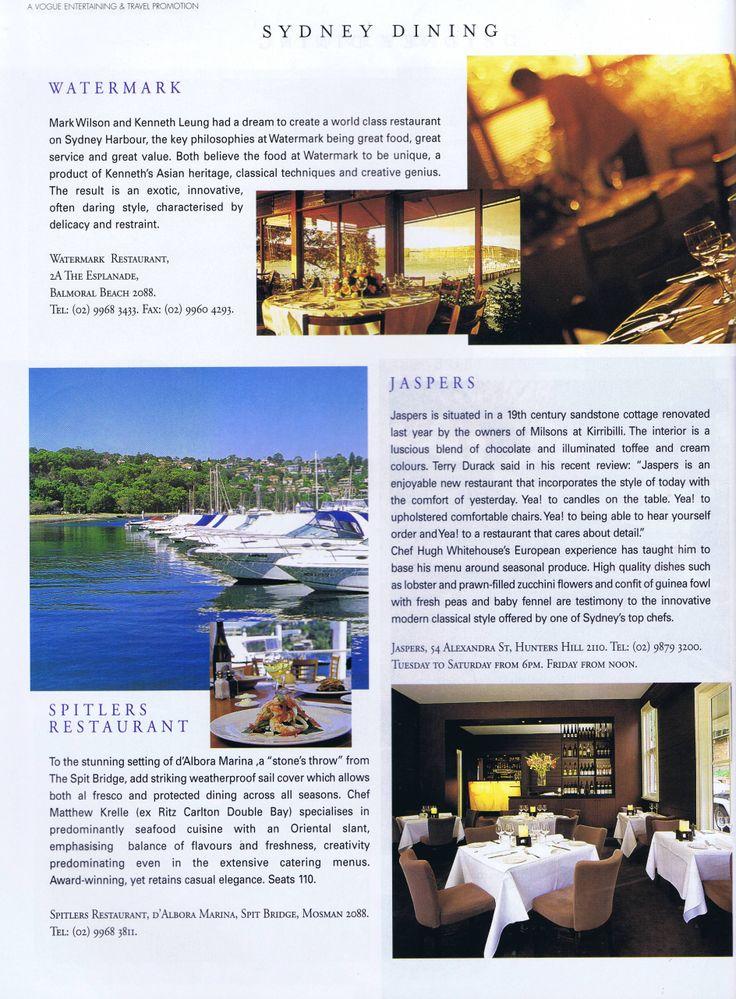 Vogue Entrtaining & Travel May 1998 Pg 2 Brooke Aitken Design