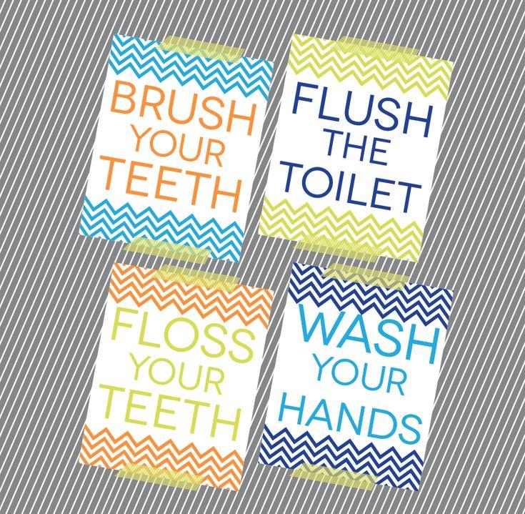 free kids bathroom reminders