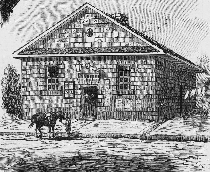 Cumberland Street Lockup (1829–1882) served as the principal police station for the north part of the city from 1847 until replaced by 127 George Street. (Illustrated Australasian News, 29 June 1881)