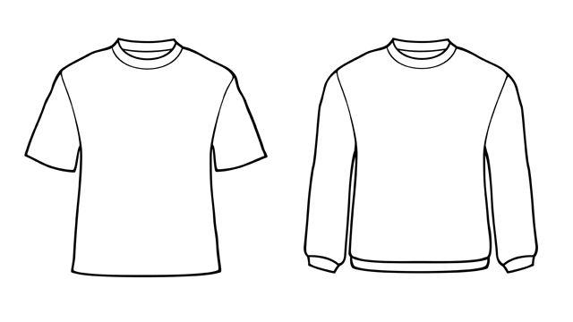 T shirt templates art stuff pinterest traditional for Long sleeve t shirt template illustrator
