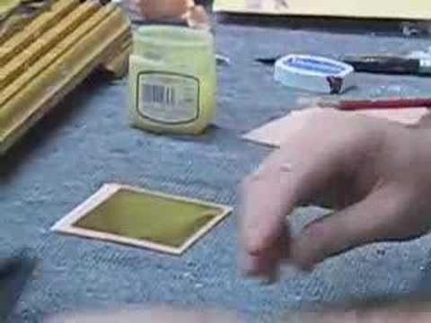 Gilding Glass    The Smith Tip Совет по Золочению Стекла. Смит Тип