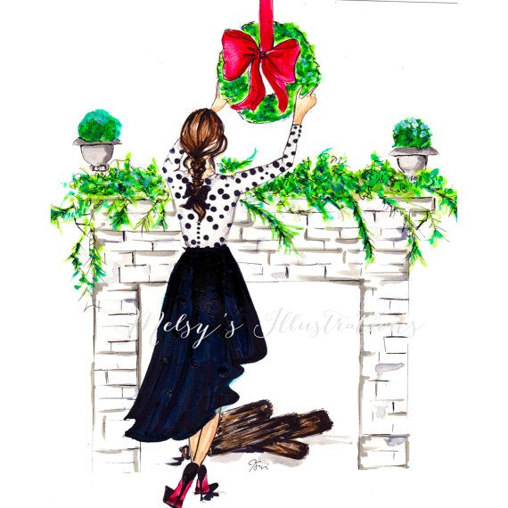 The Holiday Mantle by Melsys on Etsy