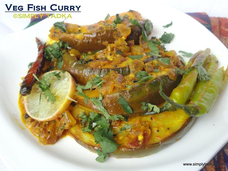 Vegetarian Fish Curry /Eggplant Curry - Bengali Style ~ Simply TADKA