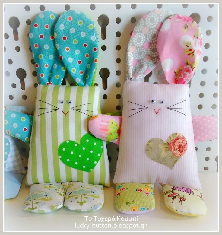 patchwork bunny, Scrap Fabric Bunny Softie