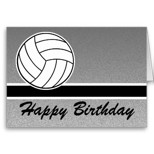 Volleyball Happy Birthday Card | Zazzle.co.uk | card ...