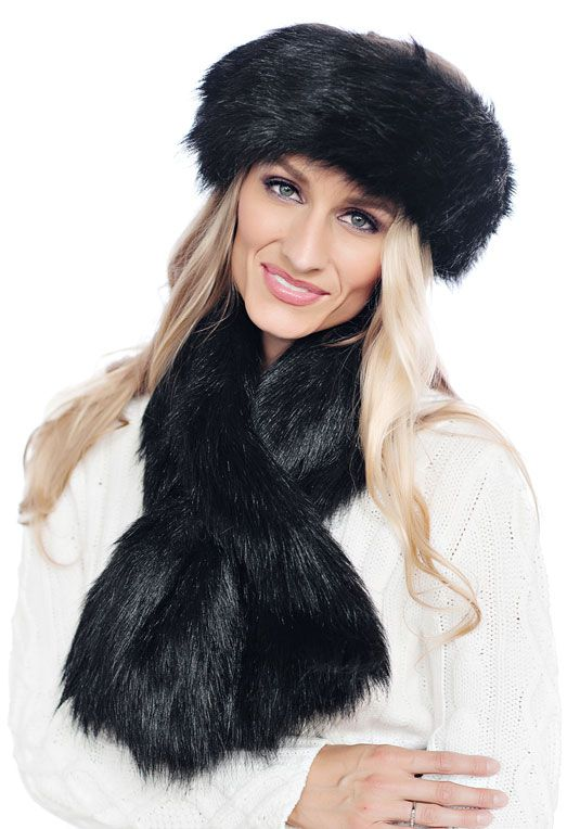 Black Feather Fox Halo Headband just have the headband and it is quite warm.