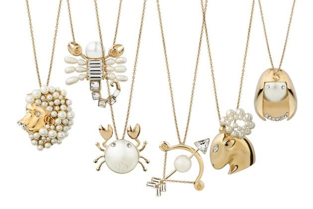 Show off your sign with these horoscope necklaces.