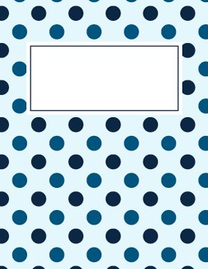 Blue Polka Dot Binder Cover