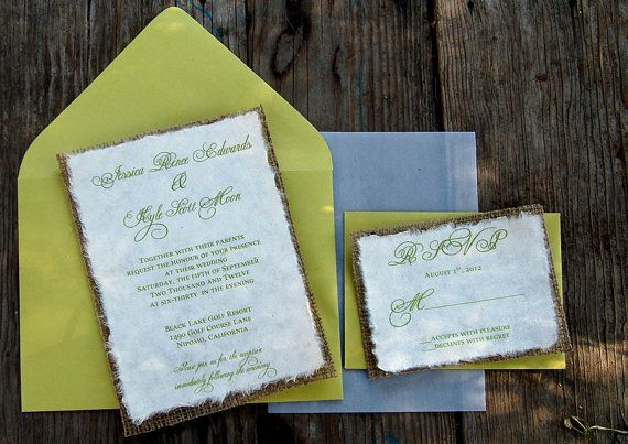 135 best wedding invitations images on pinterest bridal do it yourself diy simple rustic burlap solutioingenieria Gallery