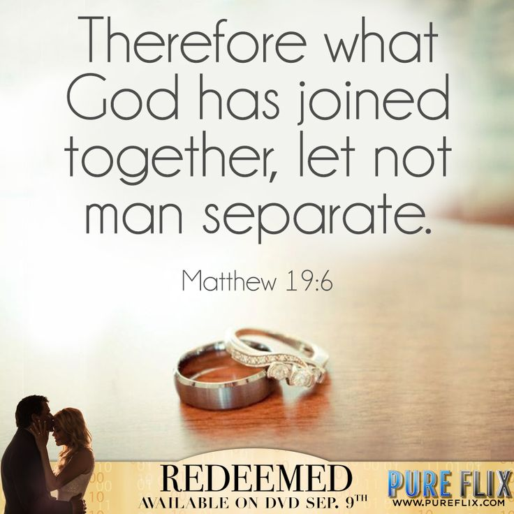 Matthew  Therefore What Has Joined Together Let Not Man Separate
