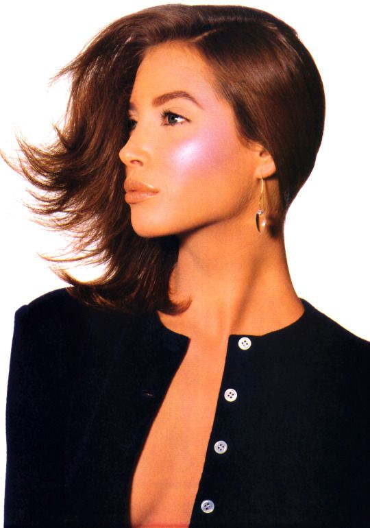 Christy Turlington by Irving Penn for  Vogue, Jan 1988. Clothing by Geoffrey Beene; makeup by Kevyn Aucoin.