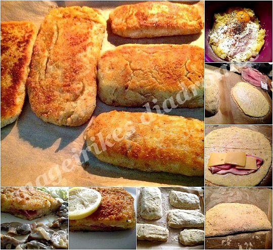 Κροκέτες πατάτας με ζαμπόν και τυρί