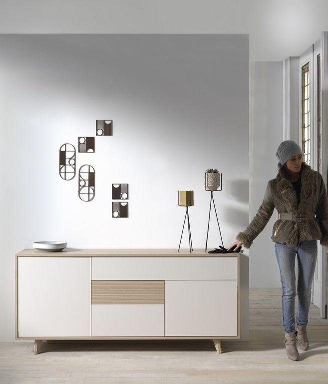 MILA kleine dressoir met handige opbergvakken °° Scandinavisch design