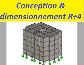 Exemple de conception et dimensionnement d'un bâtiment R+4  - Rapport de stage