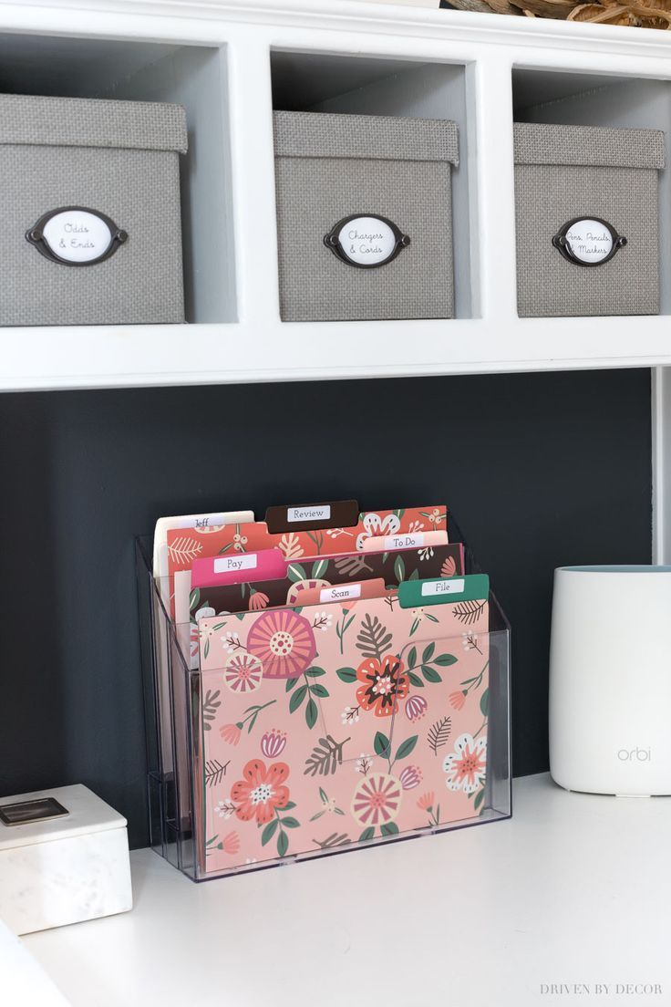 Create A Simple Home Mail Organizer Center Show Your Mail Who S Boss Driven By Decor Home Mail Organization Desktop Mail Organizer Desktop Organization