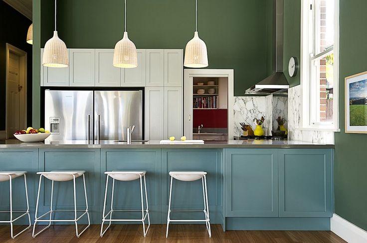grüne wandfarbe für die küche - 42 ideen | grüne