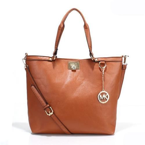 Michael Kors Brooke Medium Tan Totes