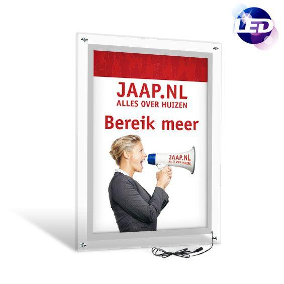 Kliklijsten/posterlijsten met LED backlight | Crystal LED - http://www.expofit.nl/led-kliklijsten/klik132--led-kliklijst-crystal.html