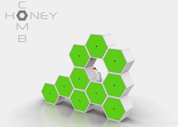 Honeycomb Modular Furniture System Takes The Hexagonal Shape To Allow Its  User To Compose Into Different Kind Of Furniture.