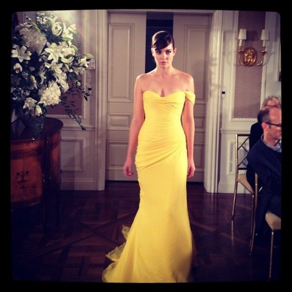 Canary yellow bridesmaid dress - Wedding Inspirations
