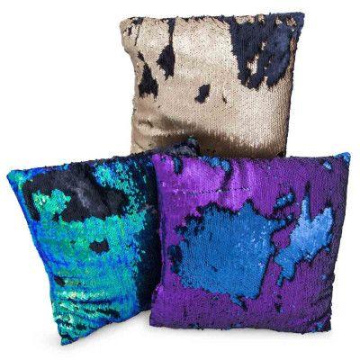 matte sequin pillow 14in x 14in  | Five Below