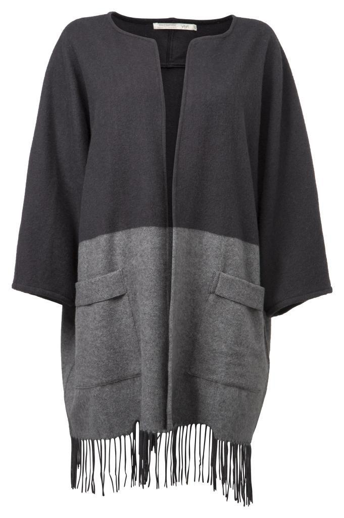 Yaya poncho cardigan in dark grey - £85.00 - Blue Saffron Walden