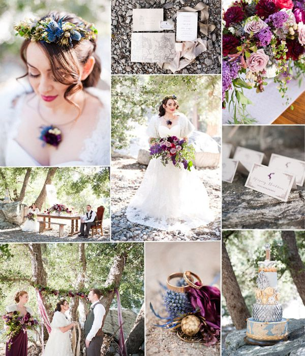fall purple Gmae of Thrones wedding ideas