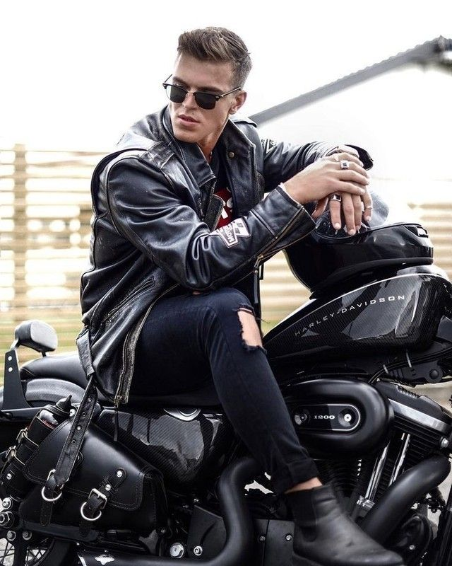 Pin By Dave On Casual Men Motorcycle Style Outfit Motorcycle Style Biker Photography
