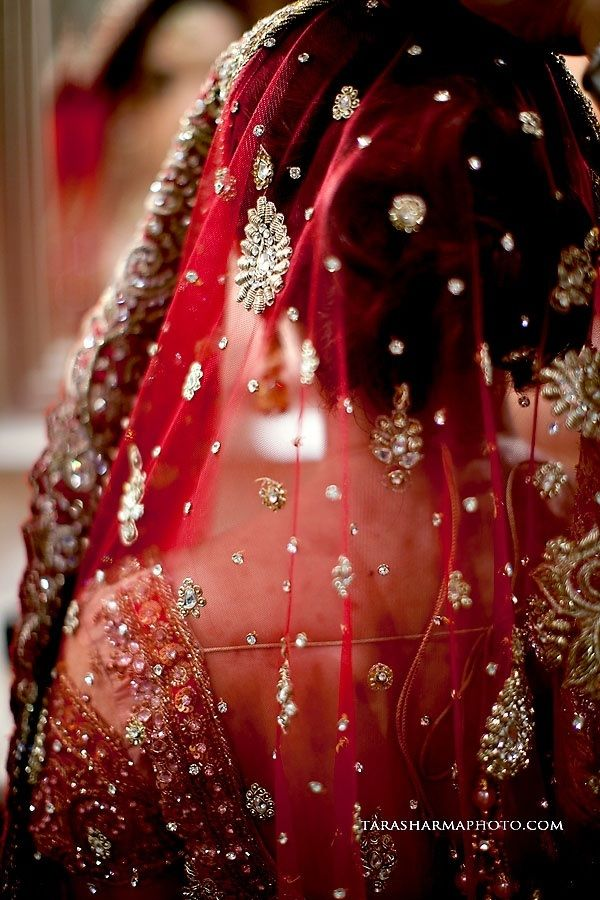 Indian wedding photography. bridal photoshoot ideas. Beautiful red dupatta!