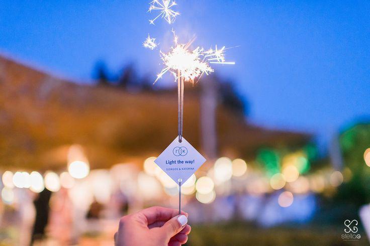 Sparklers!  #sparklers #summerwedding #lovely #greekislands #weddingplanner #dreamsinstyle