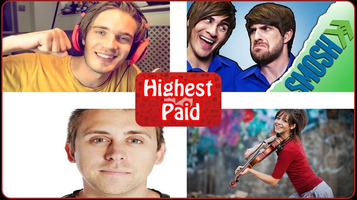 10 Highest Paid YouTube Stars 2016 - Richest Youtubers !