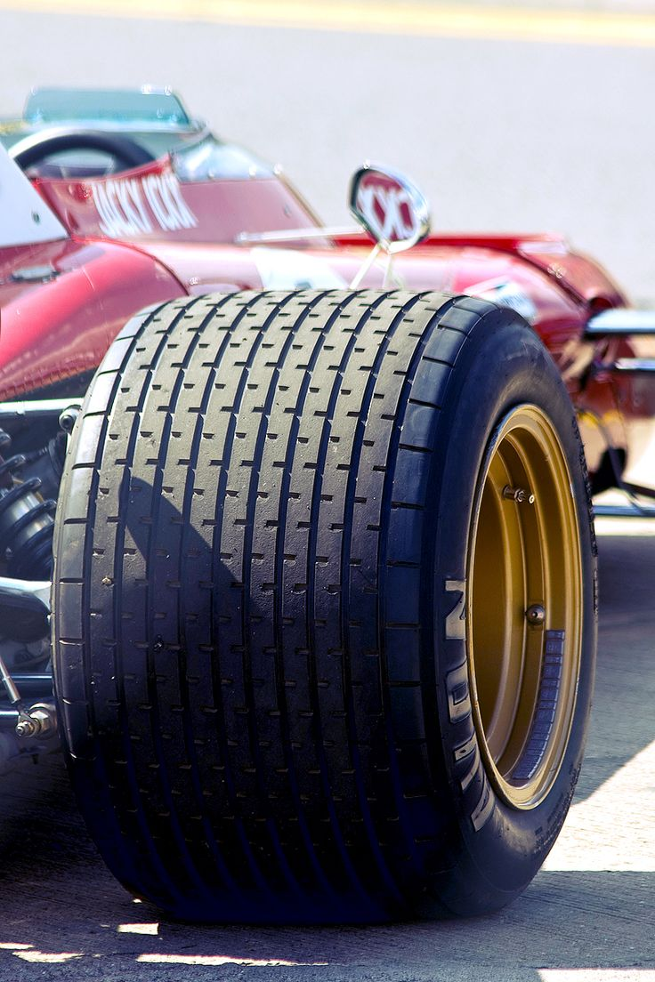 Car - thinking patterns, then the tread of a tyre using some very geometric patterns (such as this F1 tyre) and subtle gradients to add depth and light could work.