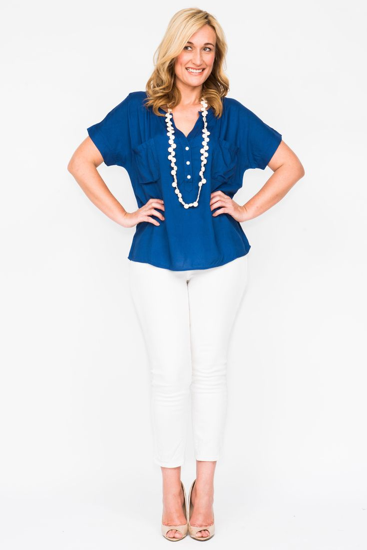 Avery Plain Top in Gorgeous Navy Blue SALE for $20.95! https://goo.gl/59mguL