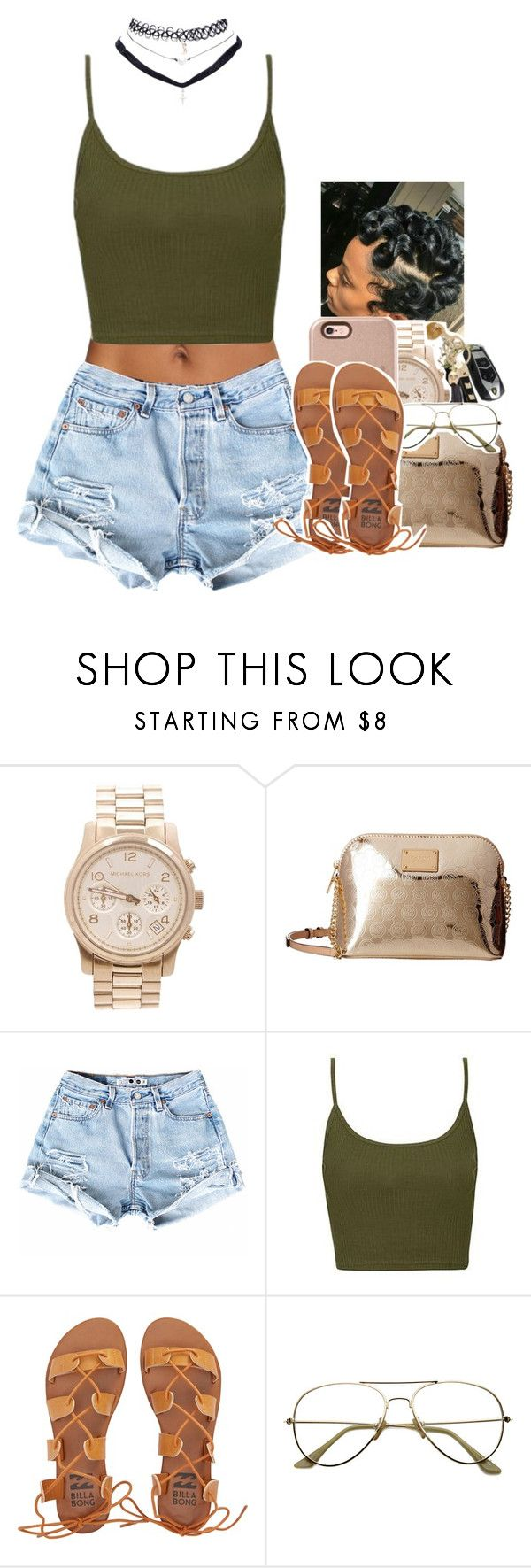 """Untitled #1989"" by toniiiiiiiiiiiiiii ❤ liked on Polyvore featuring Michael Kors, Topshop, Billabong and Wet Seal"