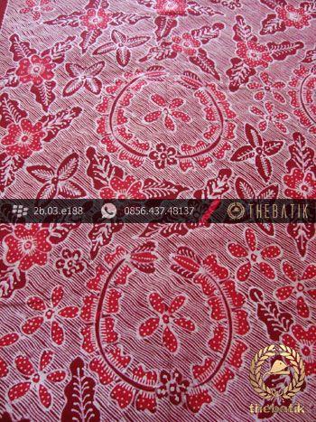 Kain Batik Tulis Jogja Motif Bantulan Galaran Merah-2 | #Indonesia Traditional #Batik Tulis #Design. HandDrawn Process http://thebatik.co.id/kain-batik-bahan/batik-tulis/