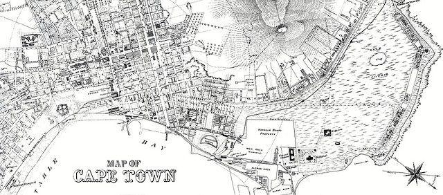 Cape Town Map c1890