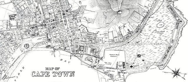 Cape Town Map c1890 | Flickr - Photo Sharing!