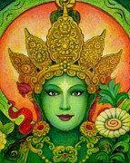 Déesse Tara verte spirituelle art bouddhisme par HalstenbergStudio